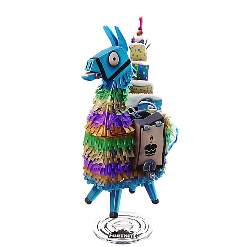 Figurine fortnite lama bleu