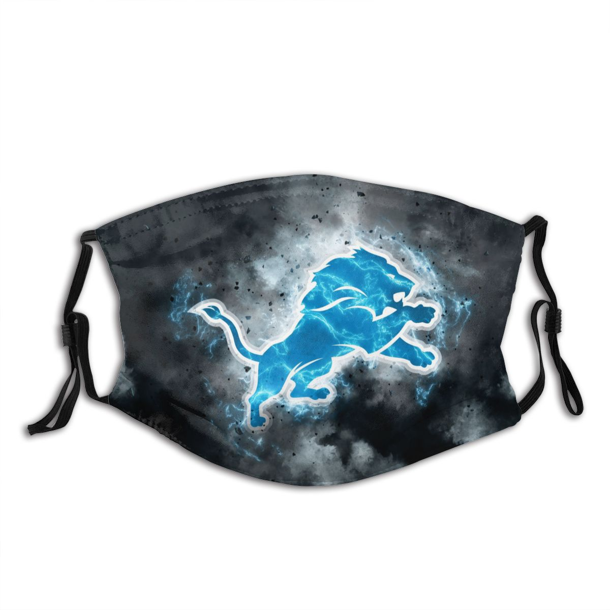 Lions Illustration Art Adult Cloth Face Covering With Filter