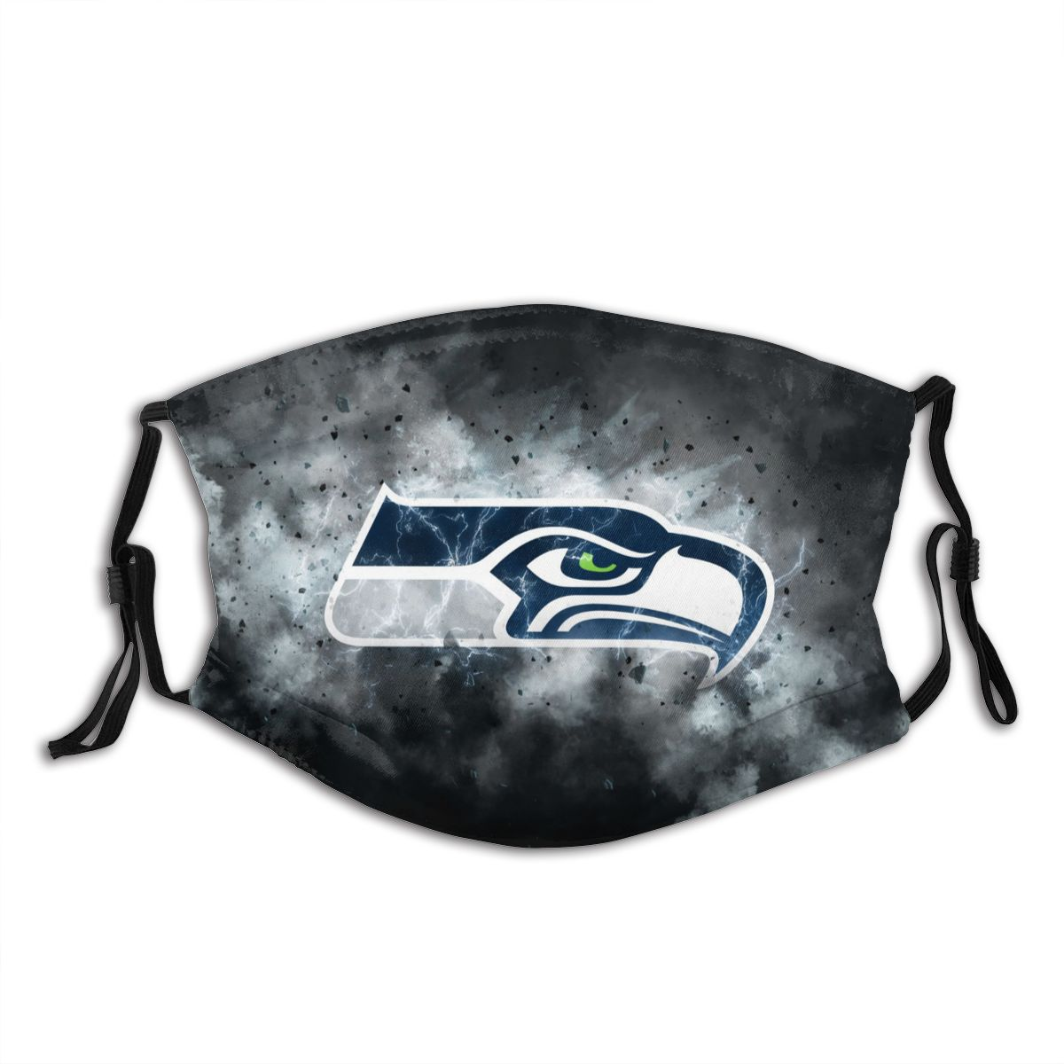 Seahawks Illustration Art Adult Cloth Face Covering With Filter