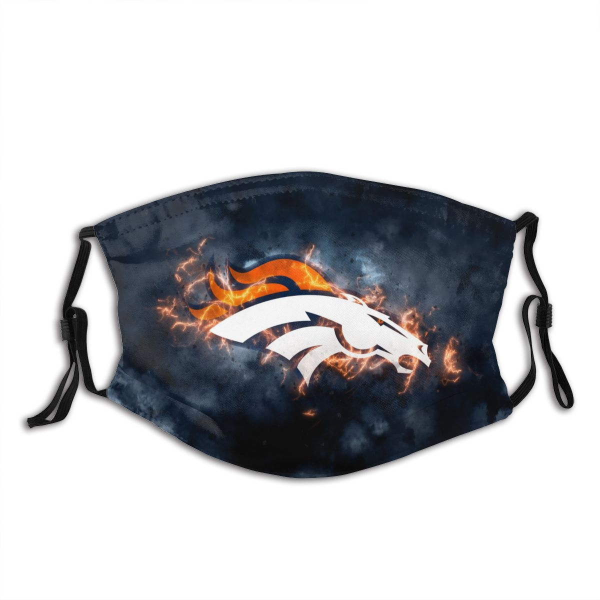 Broncos Illustration Art Adult Cloth Face Covering With Filter