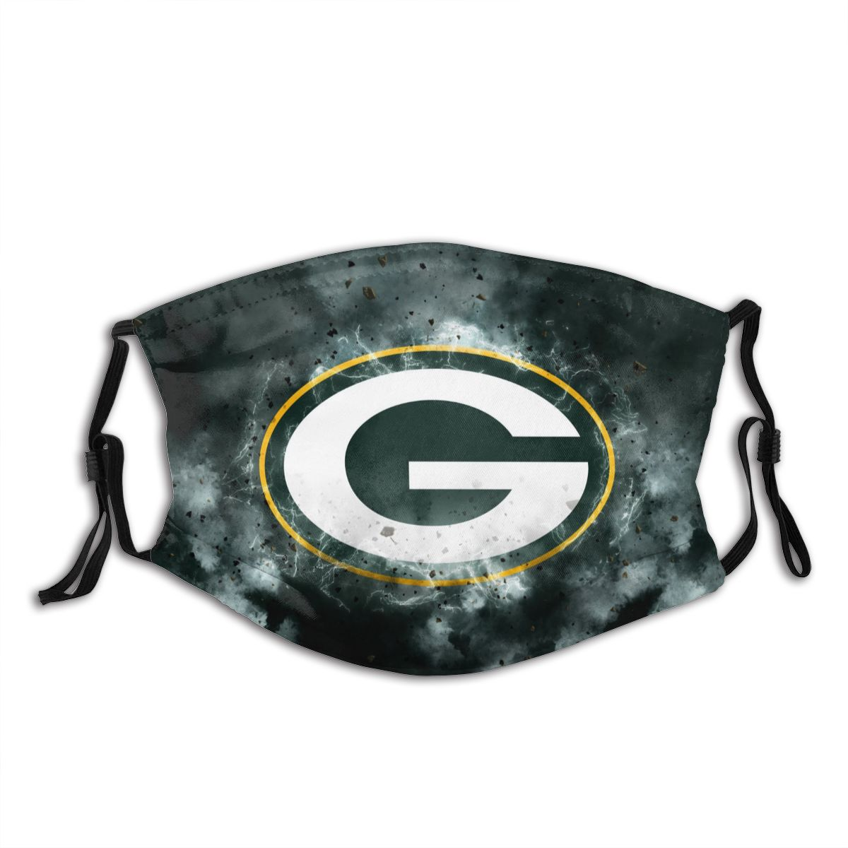 Packers Illustration Art Adult Cloth Face Covering With Filter