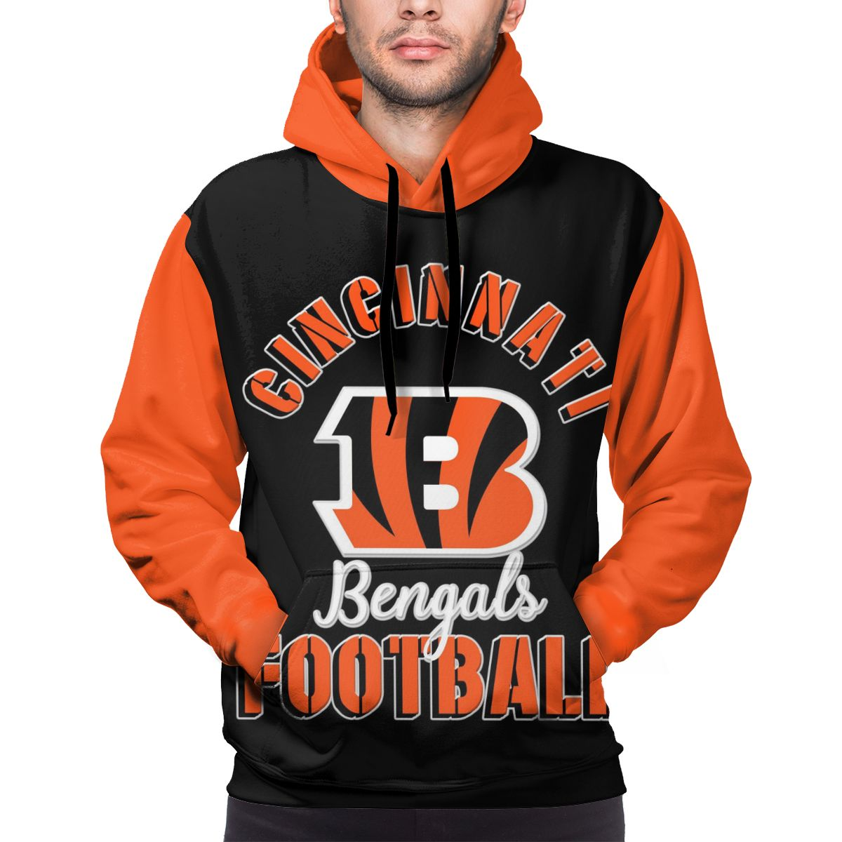 Bengals Football Team Customize Hoodies For Men Pullover Sweatshirt
