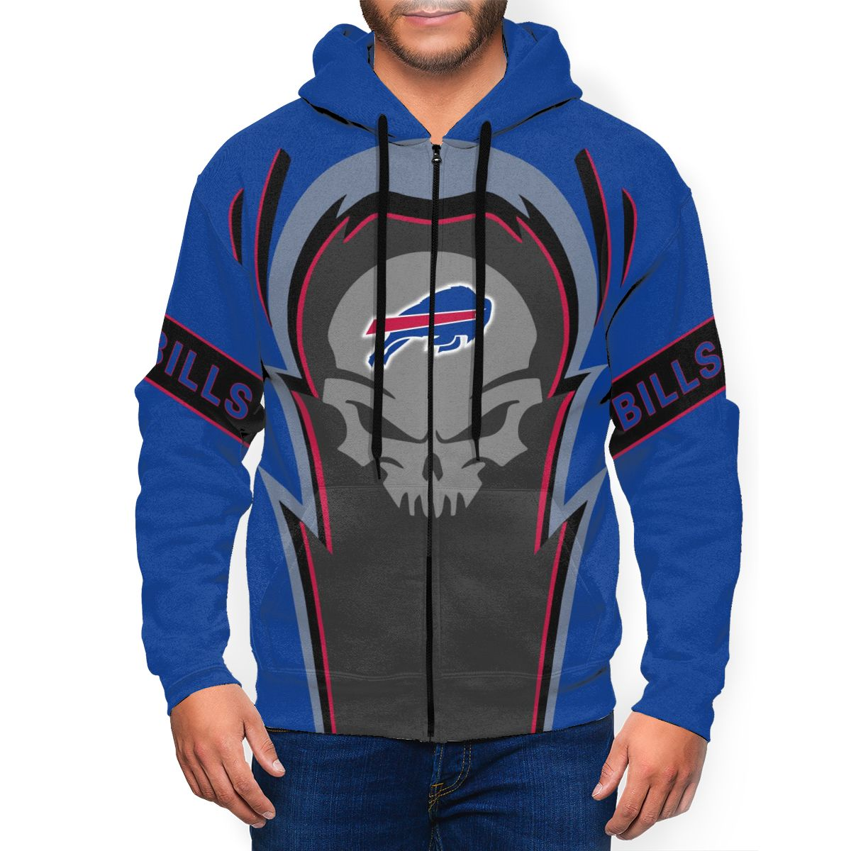 Bills Men's Zip Hooded Sweatshirt