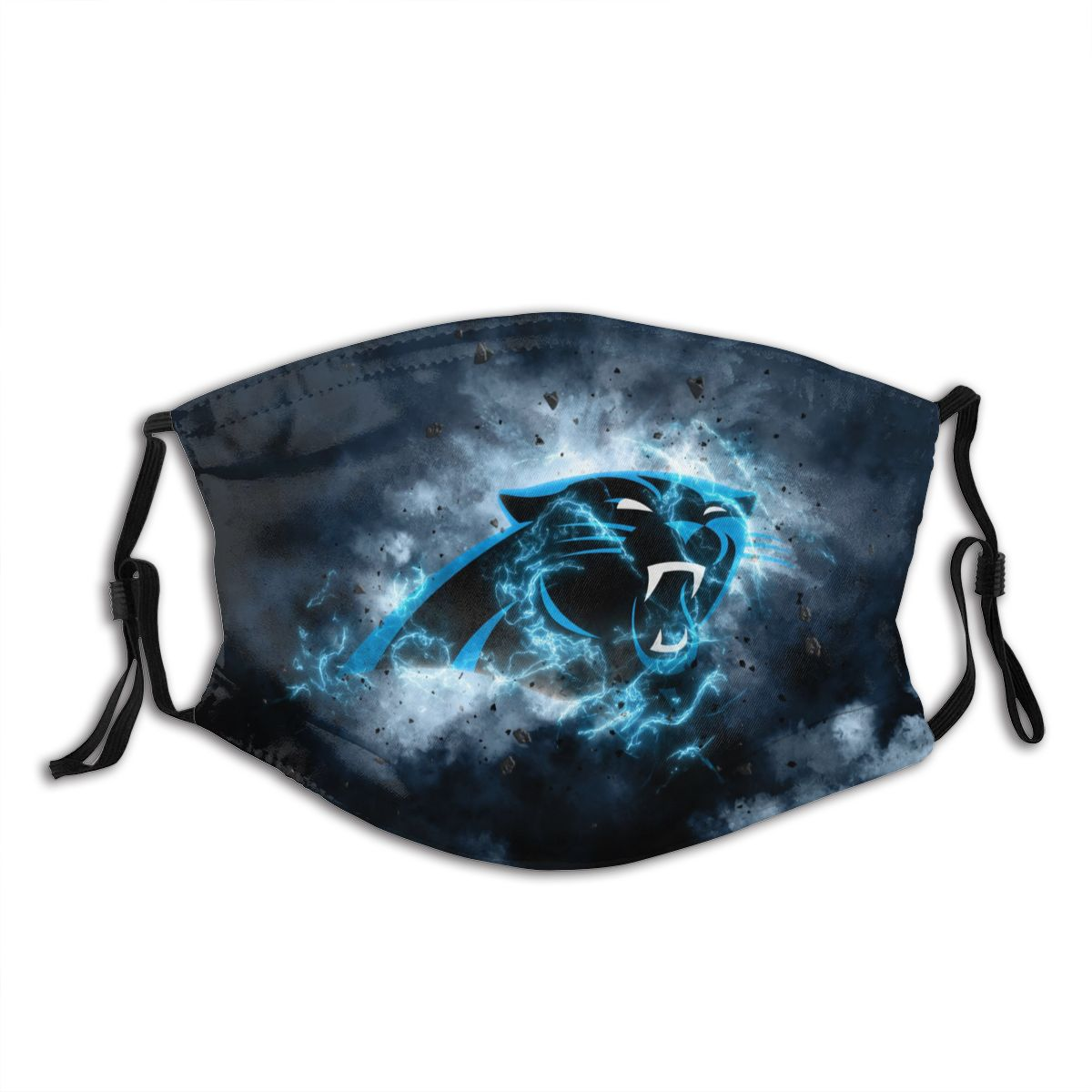 Panthers Illustration Art Adult Cloth Face Covering With Filter
