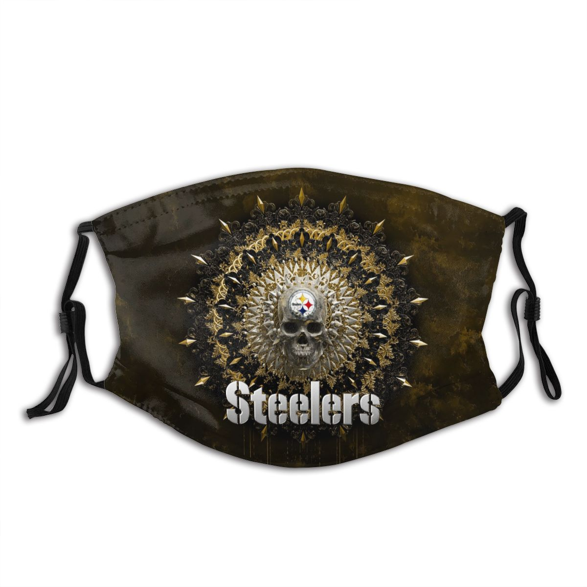 Steelers Adult Cloth Face Covering With Filter