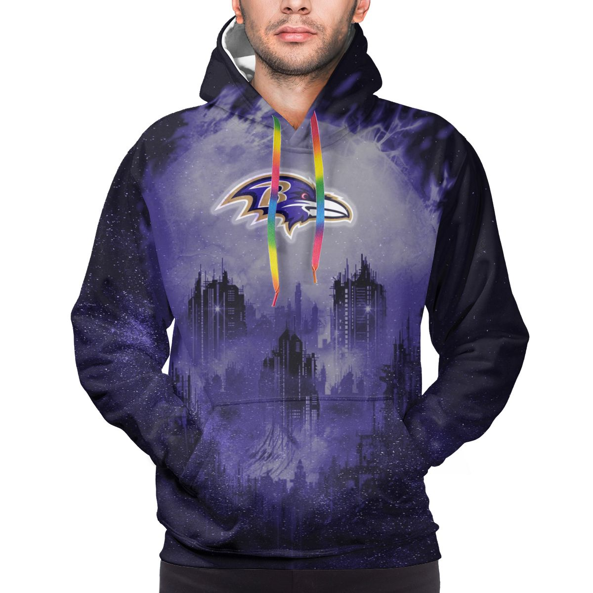 Armageddon Ravens Logo Print Hoodies For Men Pullover Sweatshirt