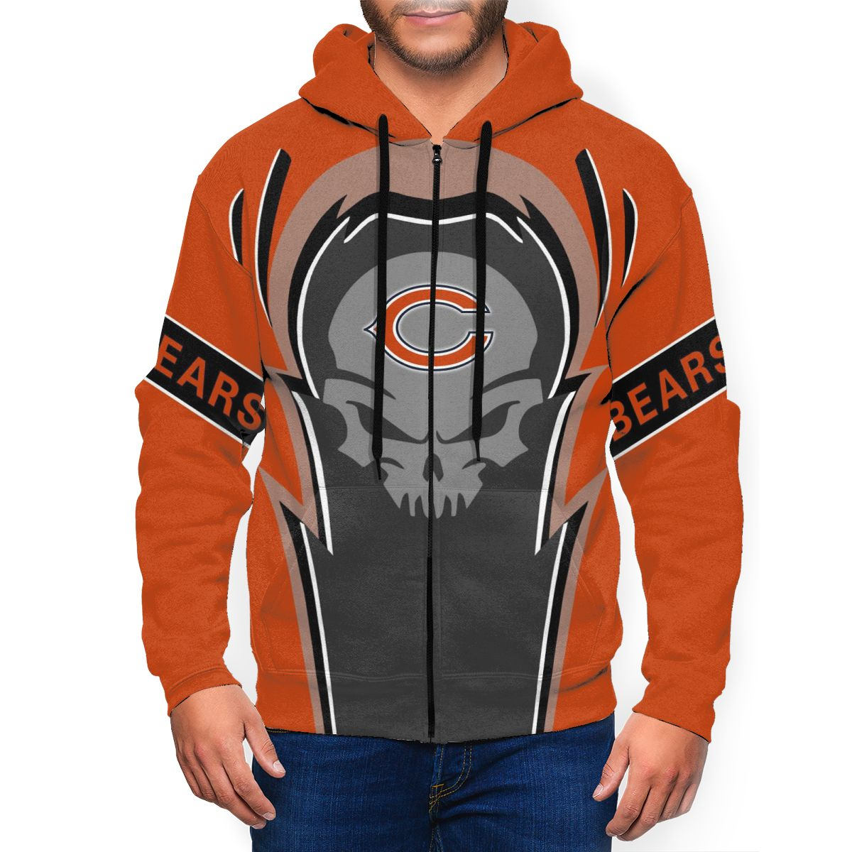 Bears Men's Zip Hooded Sweatshirt