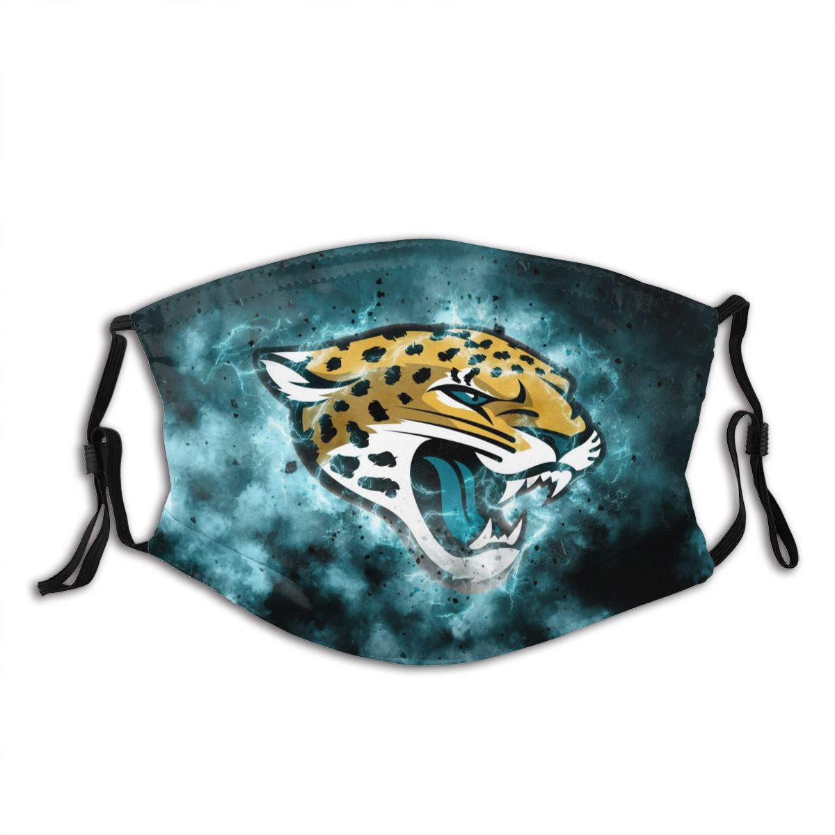 Jaguars Illustration Art Adult Cloth Face Covering With Filter