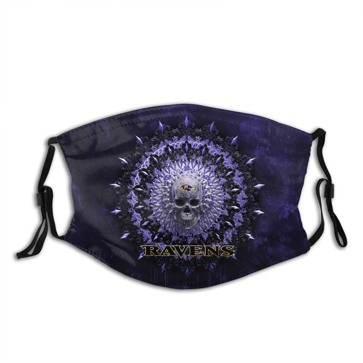 Ravens Adult Cloth Face Covering With Filter