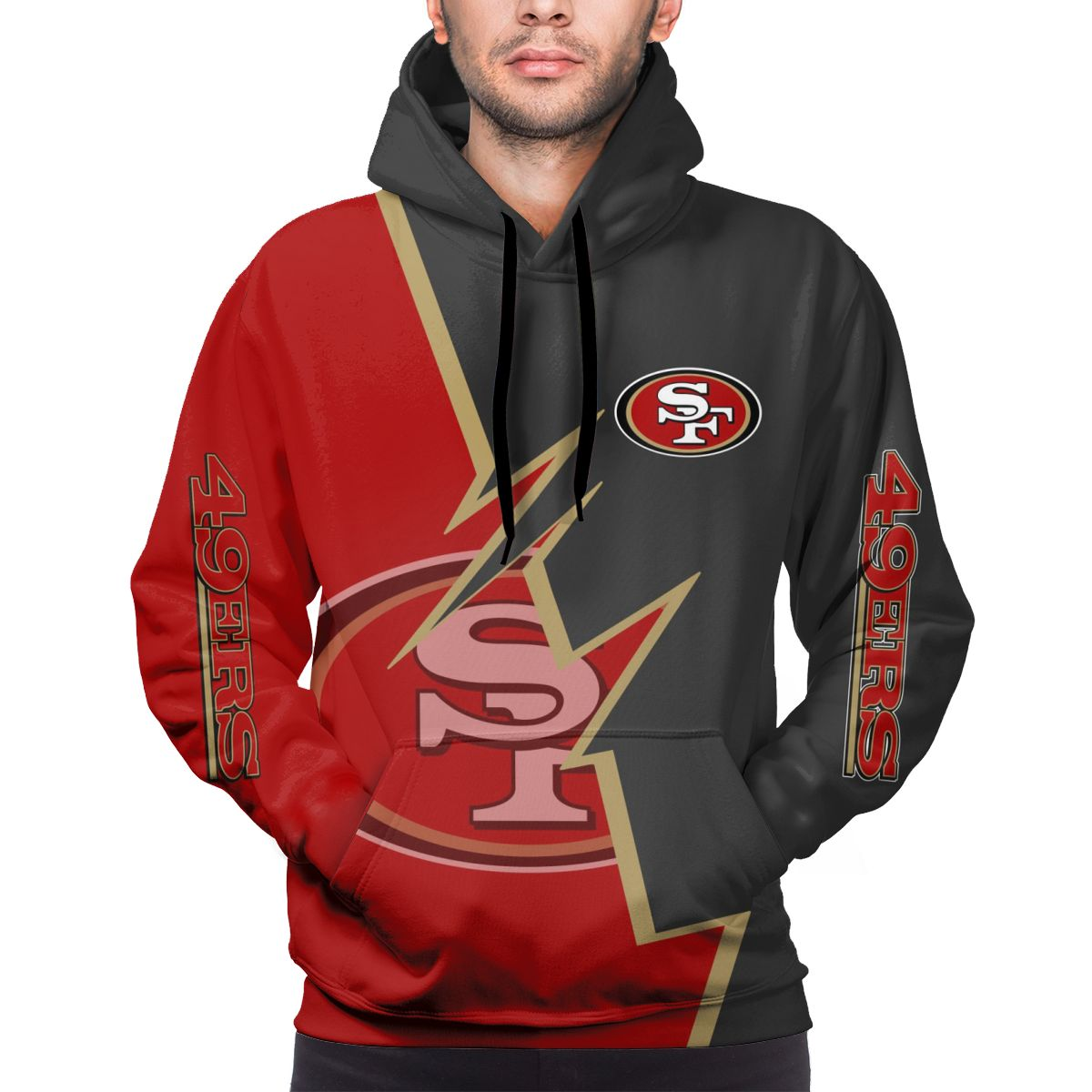 49ers Customize Hoodies For Men Pullover Sweatshirt