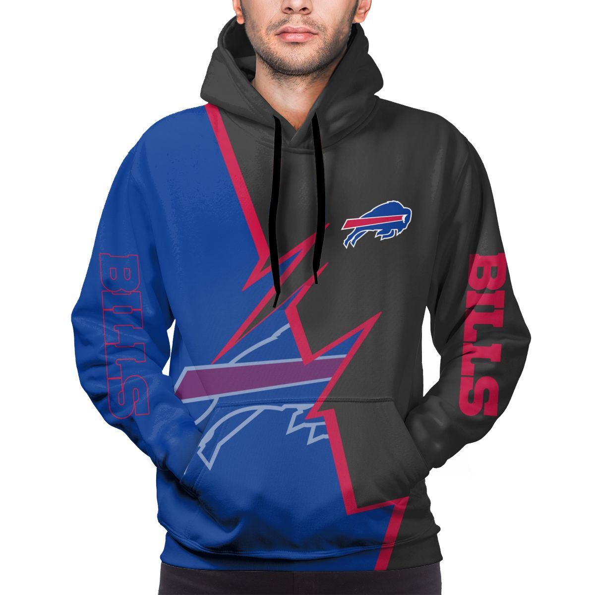 Bills Customize Hoodies For Men Pullover Sweatshirt