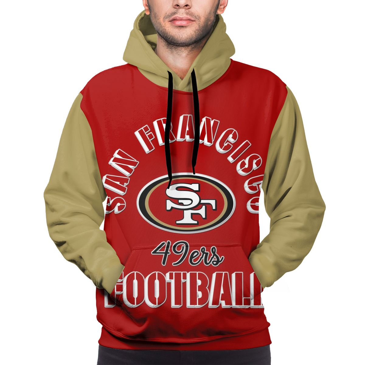 49ers Football Team Customize Hoodies For Men Pullover Sweatshirt