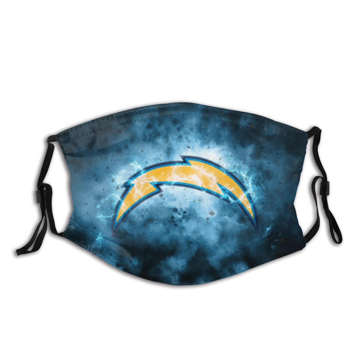 Chargers Illustration Art Adult Cloth Face Covering With Filter