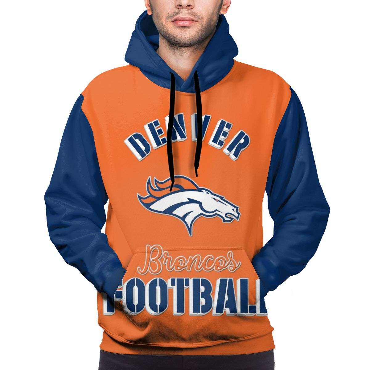 Broncos Football Team Customize Hoodies For Men Pullover Sweatshirt