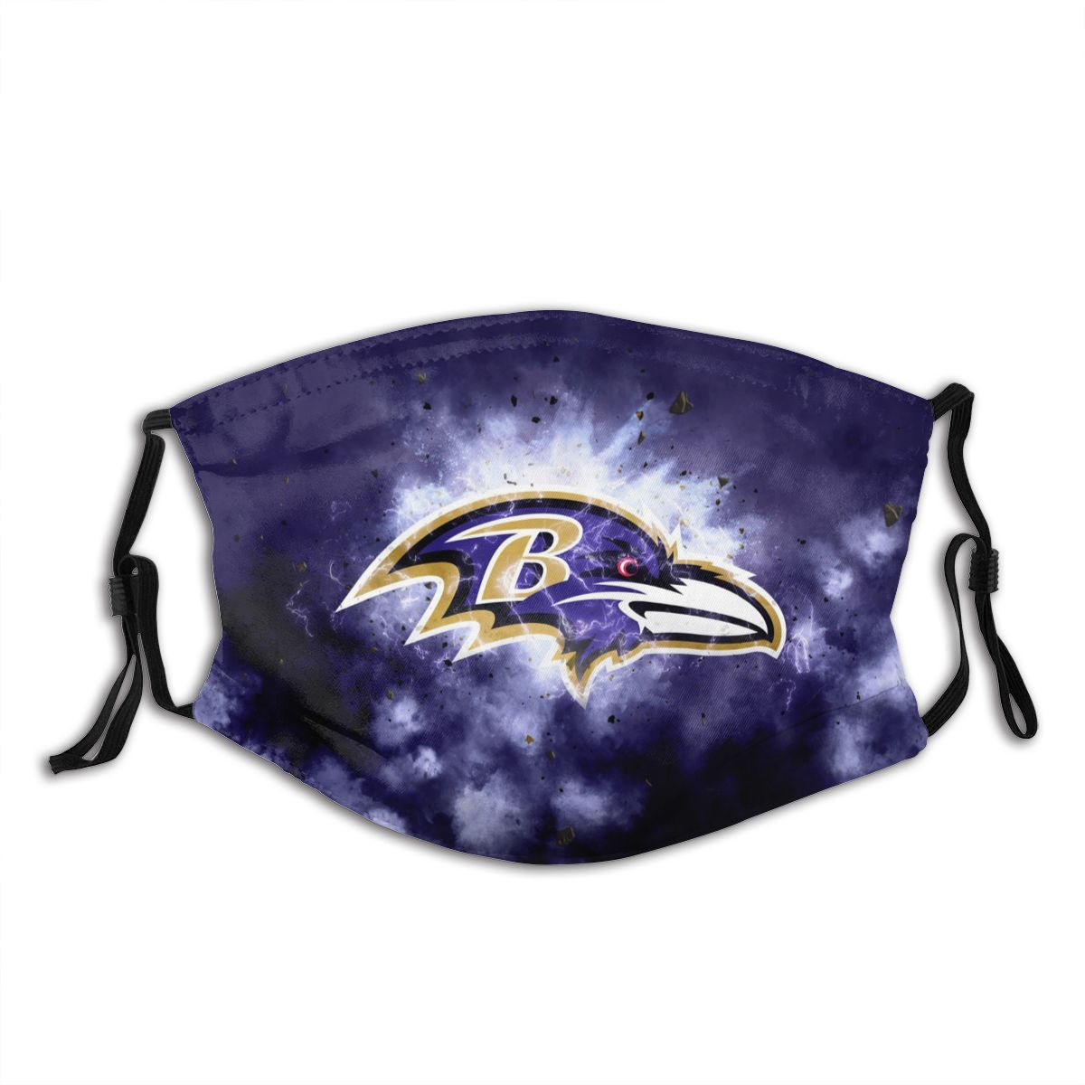 Ravens Illustration Art Adult Cloth Face Covering With Filter