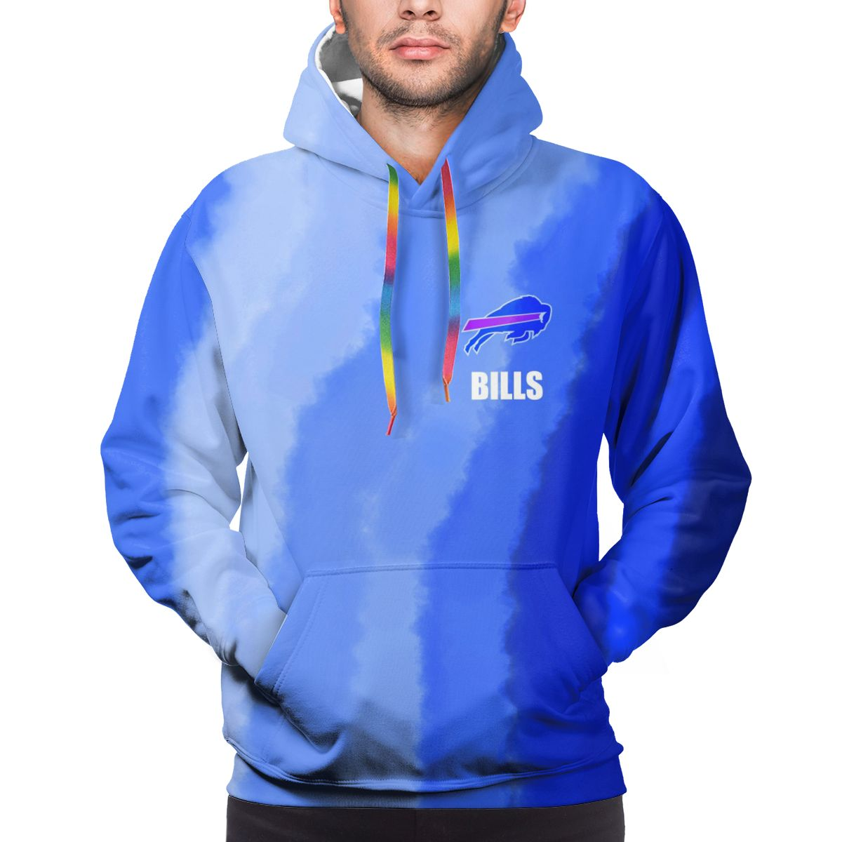 BILLS Logo Print Hoodies For Men Pullover Sweatshirt
