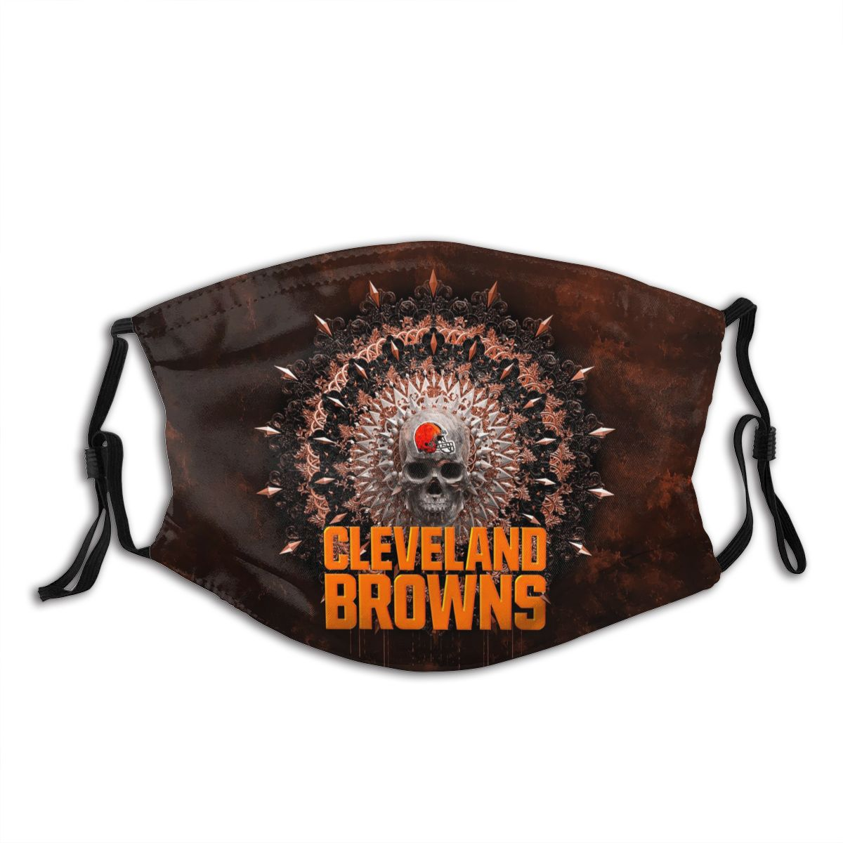 Browns Adult Cloth Face Covering With Filter
