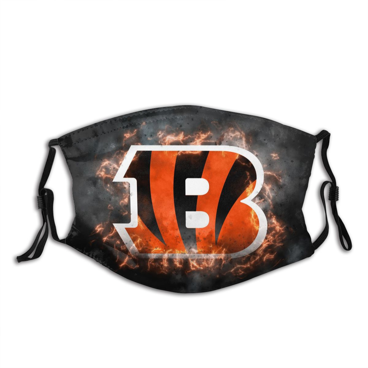 Bengals Illustration Art Adult Cloth Face Covering With Filter