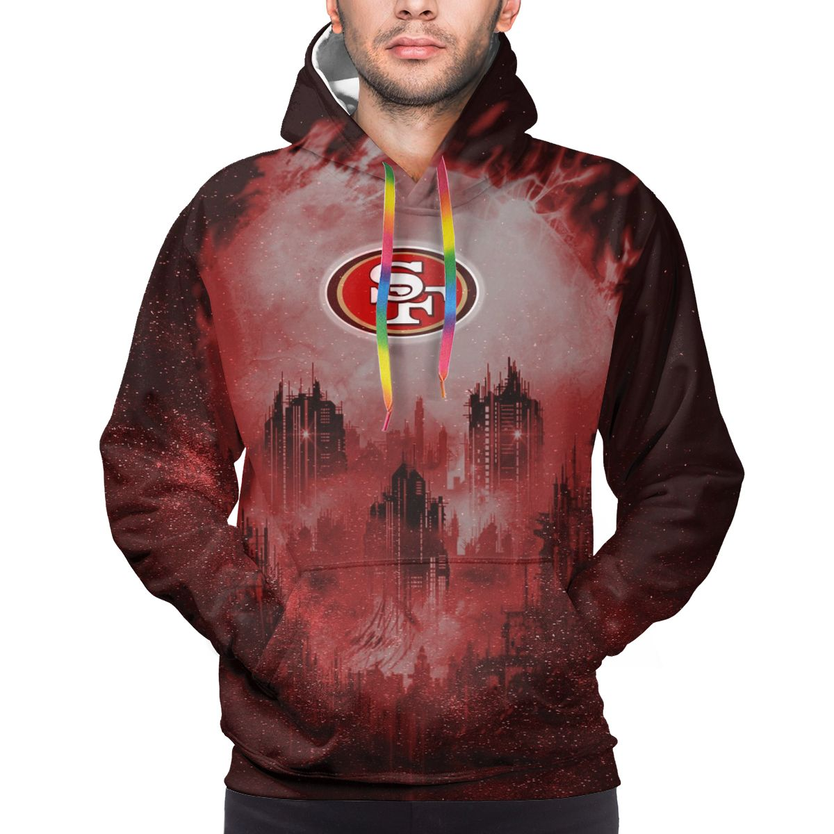 Armageddon 49ers Logo Print Hoodies For Men Pullover Sweatshirt