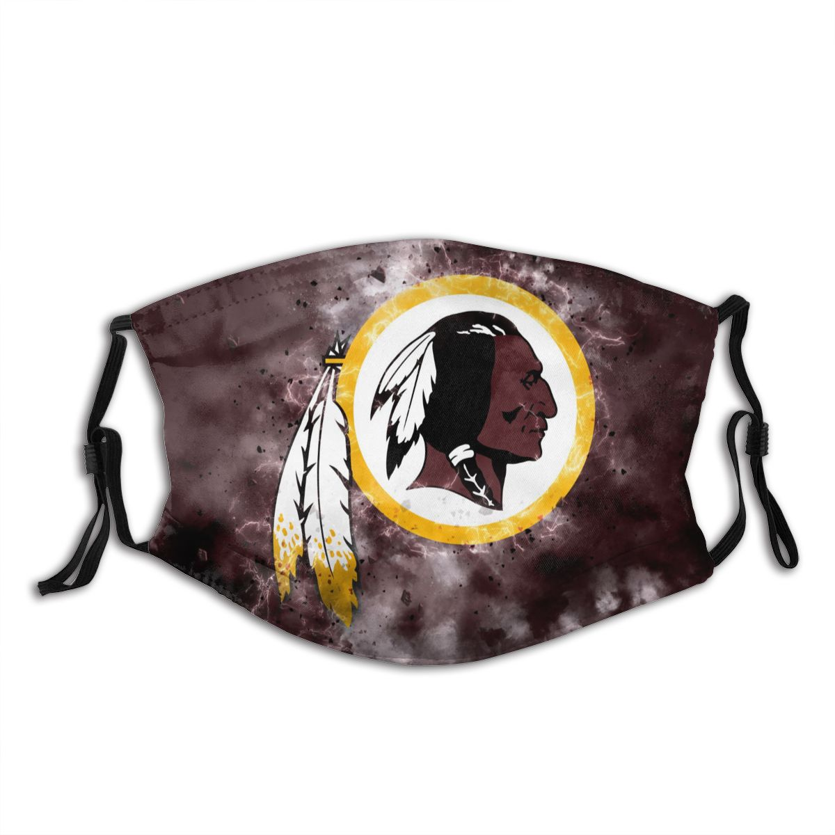 Redskins Illustration Art Adult Cloth Face Covering With Filter