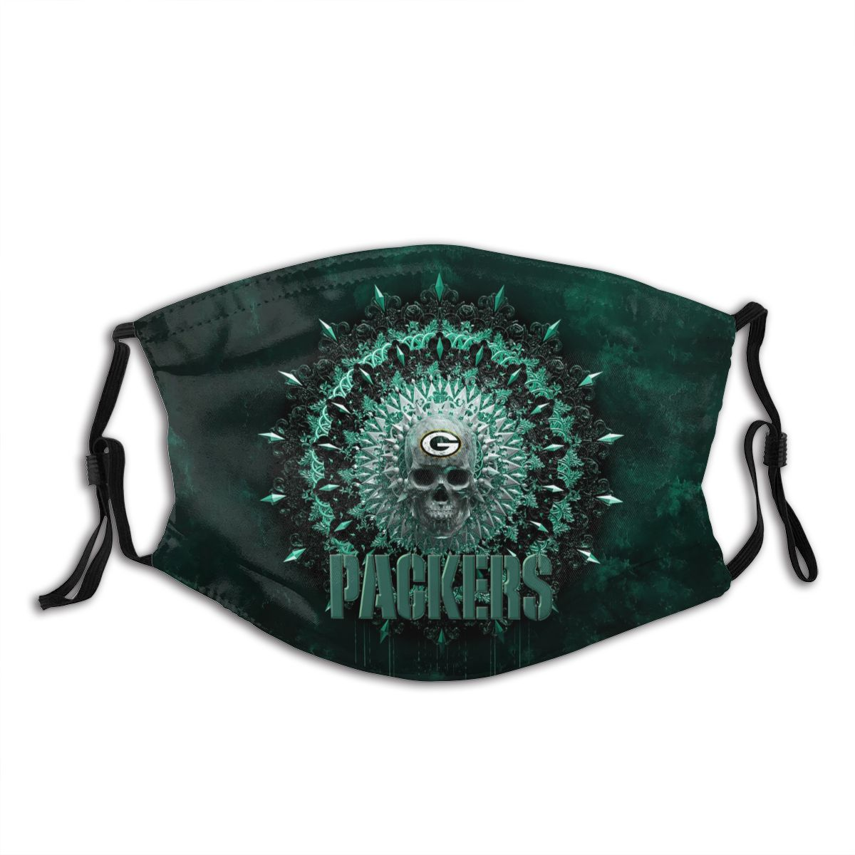 Packers Adult Cloth Face Covering With Filter