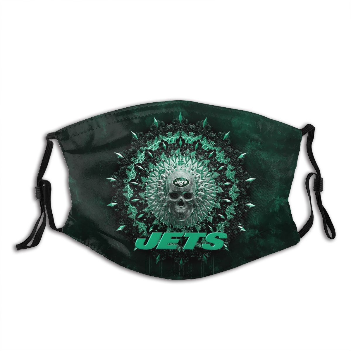 Jets Adult Cloth Face Covering With Filter