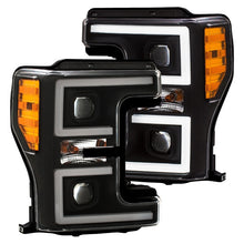Load image into Gallery viewer, ANZO LED Headlights 17-18 Ford F-250 Super Duty Plank-Style L.E.D. Headlight Black (Pair)