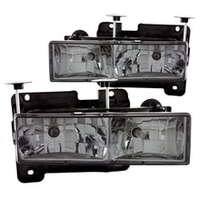 Load image into Gallery viewer, ANZO 1988-1998 Chevrolet C1500 Crystal Headlights w/ Smoke Lens