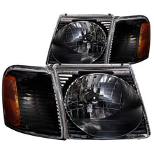 Load image into Gallery viewer, ANZO 2001-2005 Ford Explorer Crystal Headlights Black