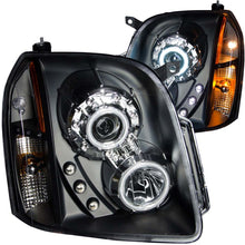 Load image into Gallery viewer, ANZO 2007-2014 Gmc Yukon Projector Headlights w/ Halo Black (CCFL)