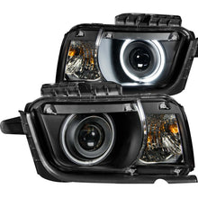 Load image into Gallery viewer, ANZO 2010-2013 Chevrolet Camaro Projector Headlights w/ Halo Black (CCFL)