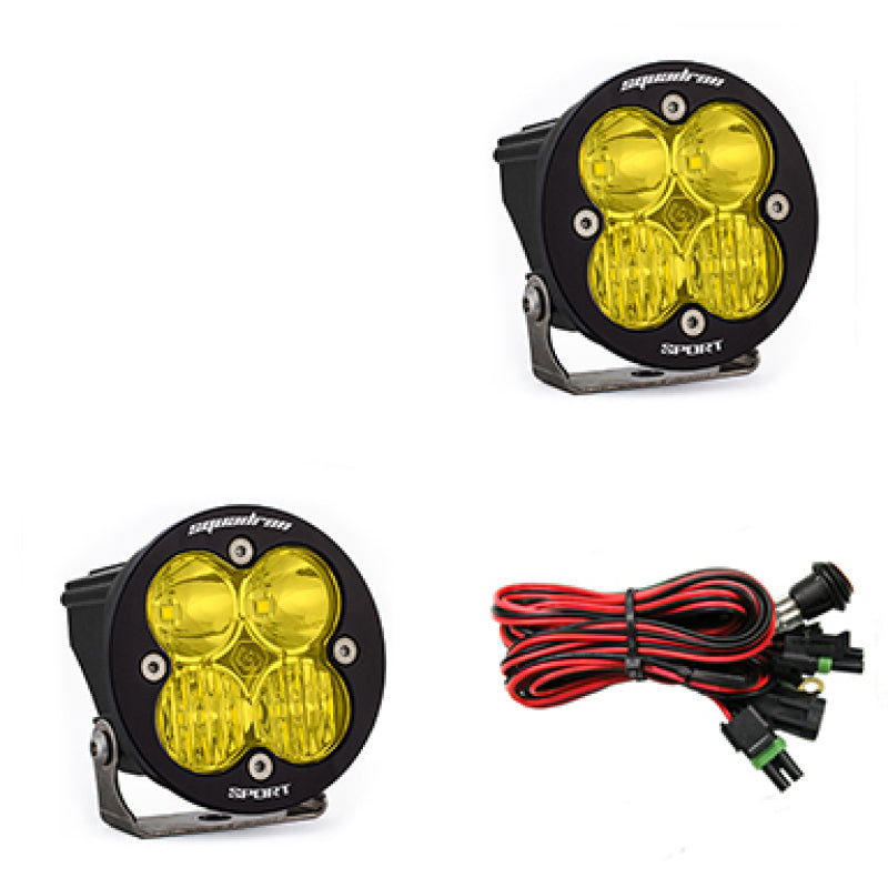 Baja Designs Squadron R Sport Driving/Combo Pair LED Light Pods - Amber