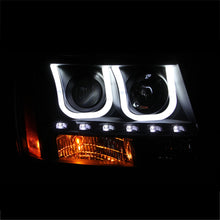 Load image into Gallery viewer, ANZO 2007-2013 Chevrolet Avalanche Projector Headlights w/ U-Bar Black