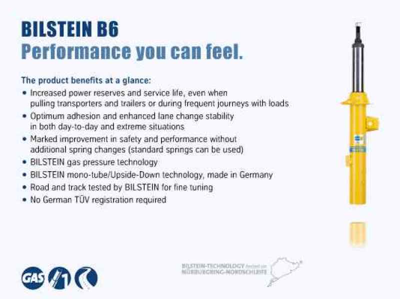 Bilstein B6 11-14 Buick Regal / 13-14 Chevrolet Malibu Rear 46mm Monotube Strut Assembly