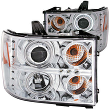 Load image into Gallery viewer, ANZO 2007-2013 Gmc Sierra 1500 Projector Headlights w/ Halo Chrome