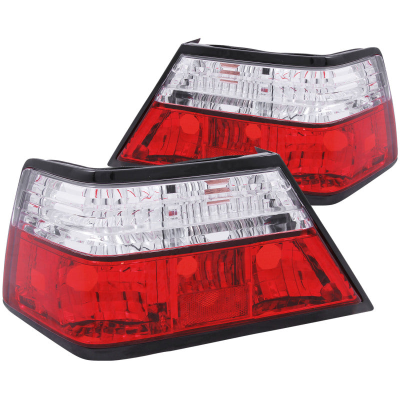 ANZO 1986-1995 Mercedes Benz E Class W124 Taillights Red/Clear