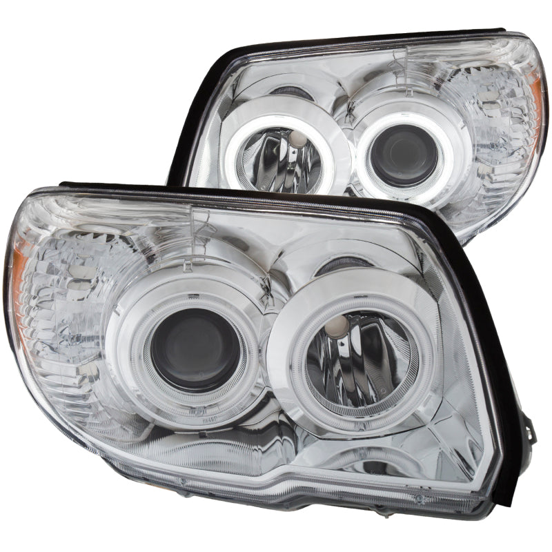 ANZO 2006-2009 Toyota 4Runner Projector Headlights w/ Halo Chrome