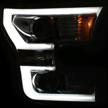 Load image into Gallery viewer, ANZO 2015-2017 Ford F-150 Projector Headlights w/ Plank Style Switchback Chrome w/ Amber
