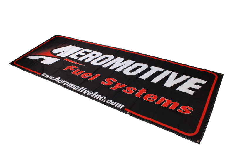Aeromotive Banner - 32in x 92in (Black/Red)