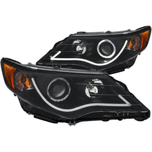Load image into Gallery viewer, ANZO 2012-2013 Toyota Camry Projector Headlights w/ Halo Black