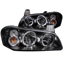 Load image into Gallery viewer, ANZO 2002-2003 Nissan Maxima Crystal Headlights w/ Halo Black