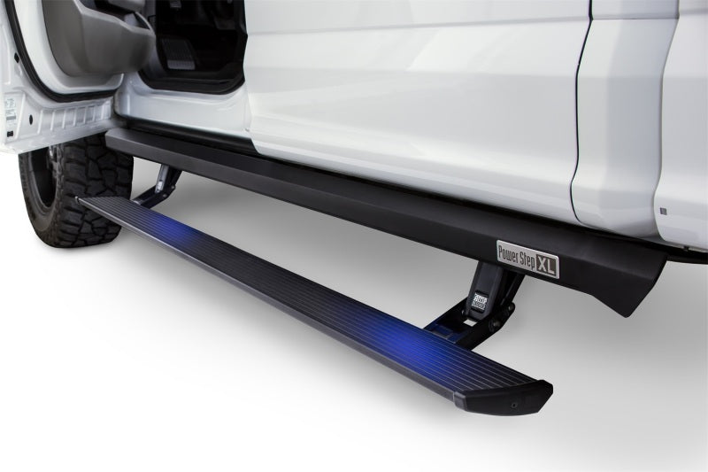 AMP Research 2007-2018 Jeep Wrangler JKU 4DR PowerStep XL - Black (Incl OEM Style Illumination)