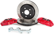 Load image into Gallery viewer, Alcon 2007+ Jeep JK-JL 330x22mm Rotors 4-Piston Red Calipers Rear Brake Kit (Includes Brake Lines)
