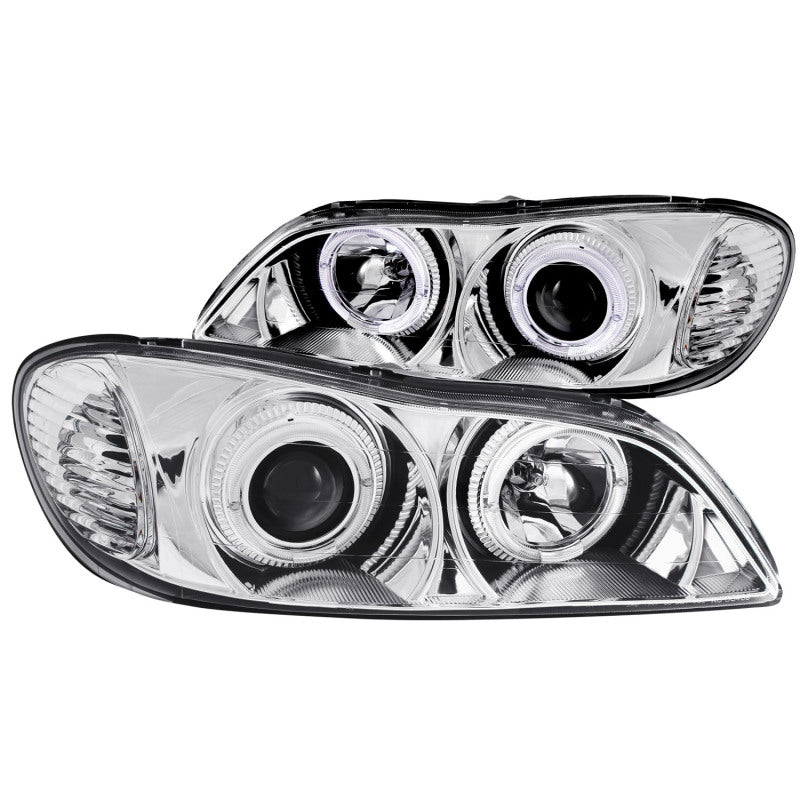 ANZO 2000-2004 Infiniti I30 Projector Headlights w/ Halo Chrome