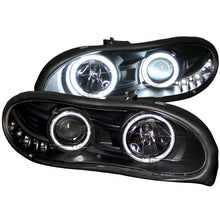 Load image into Gallery viewer, ANZO 1998-2002 Chevrolet Camaro Projector Headlights w/ Halo Black