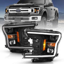 Load image into Gallery viewer, ANZO 2018-2019 Ford F-150 Projector Plank Style H.L. Black Amber (Without Switchback)