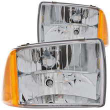 Load image into Gallery viewer, ANZO 1995-1997 Chevrolet Blazer Crystal Headlights Chrome 1pc