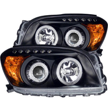 Load image into Gallery viewer, ANZO 2006-2008 Toyota Rav4 Projector Headlights w/ Halo Black