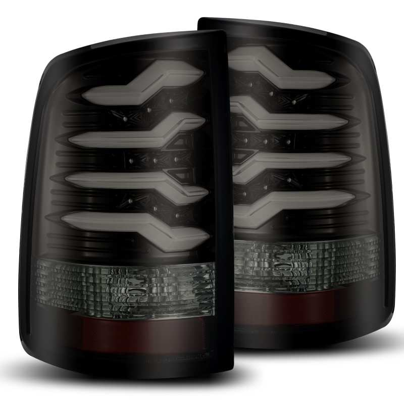 AlphaRex 09-18 Dodge Ram 1500 PRO-Series LED Tail Lights Jet Black