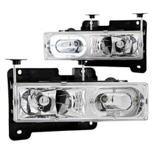 Load image into Gallery viewer, ANZO 1988-1998 Chevrolet C1500 Crystal Headlights Chrome w/ Halo